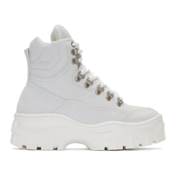 MSGM White Tractor Sneakers