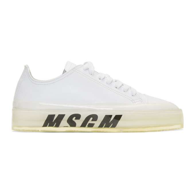 MSGM White Floating Sneakers