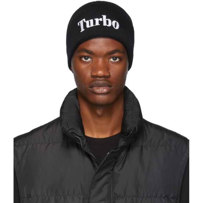 MSGM Bonnet noir Turbo