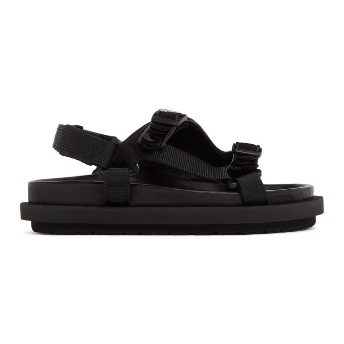 Sacai Sandales noires Spangle