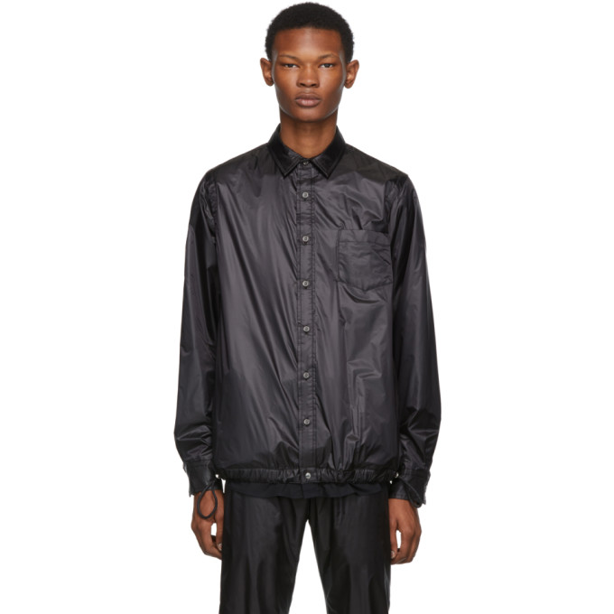 Sacai Chemise en nylon noire