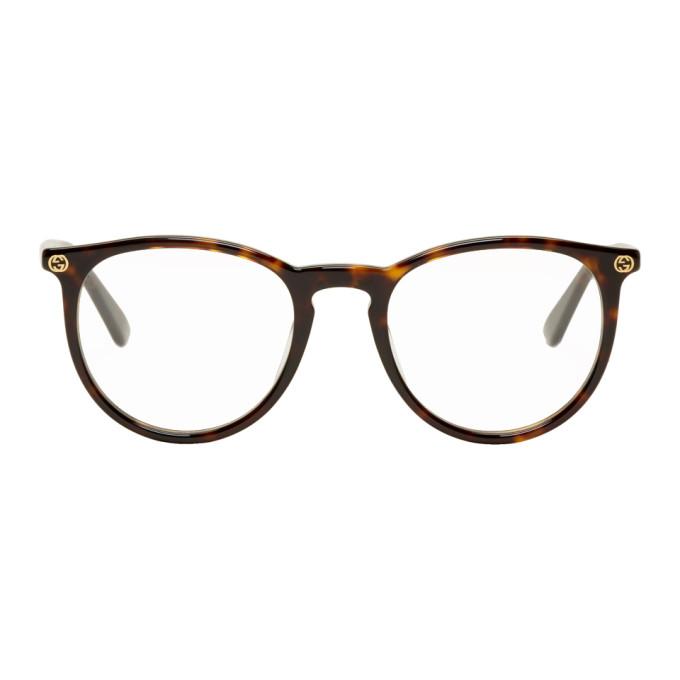 GUCCI | Gucci Tortoiseshell Round Glasses | Goxip
