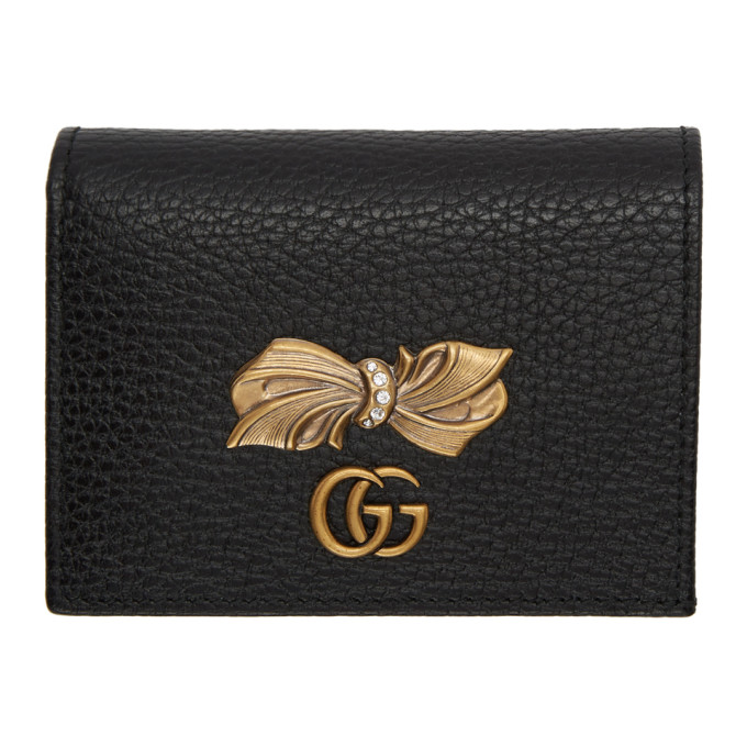 Gucci 0 GUCCI BLACK BOW CARD HOLDER