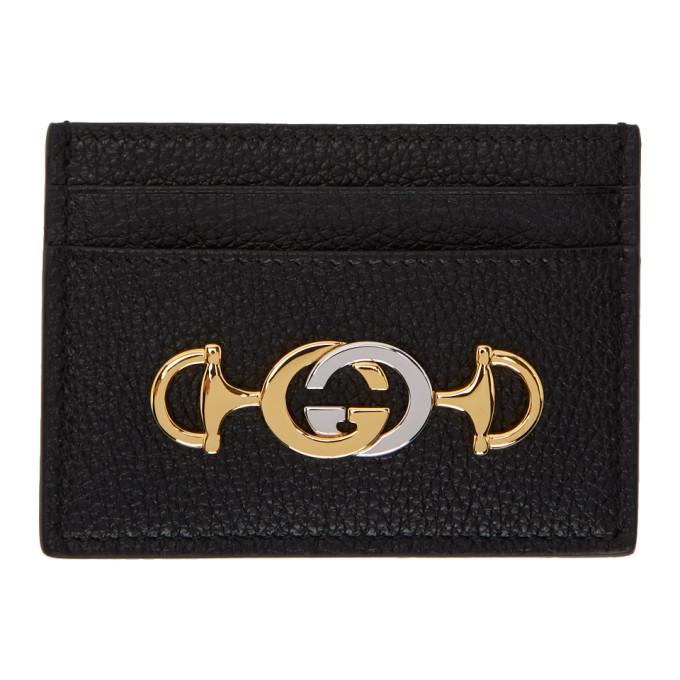 Gucci 0 GUCCI BLACK ZUMI CARD HOLDER