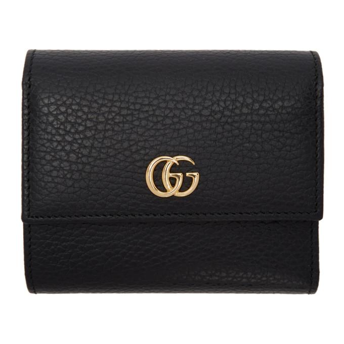 GUCCI | Gucci Black Small Marmont Wallet | Goxip