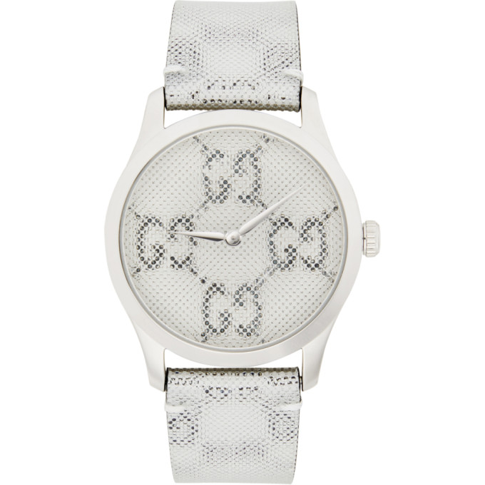 GUCCI | Gucci Silver GG Hologram G-Timeless Watch | Goxip