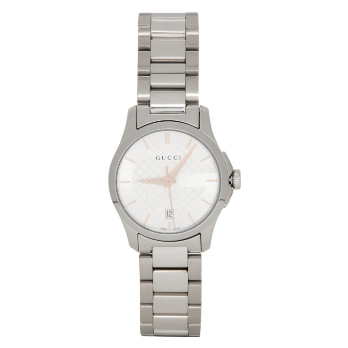 GUCCI | Gucci Silver Iconic G-Timeless Watch | Goxip