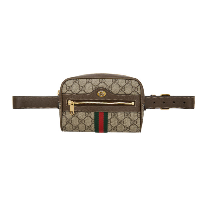 54790e30d Gucci Brown GG Supreme Ophidia Belt Bag 192451F04500101