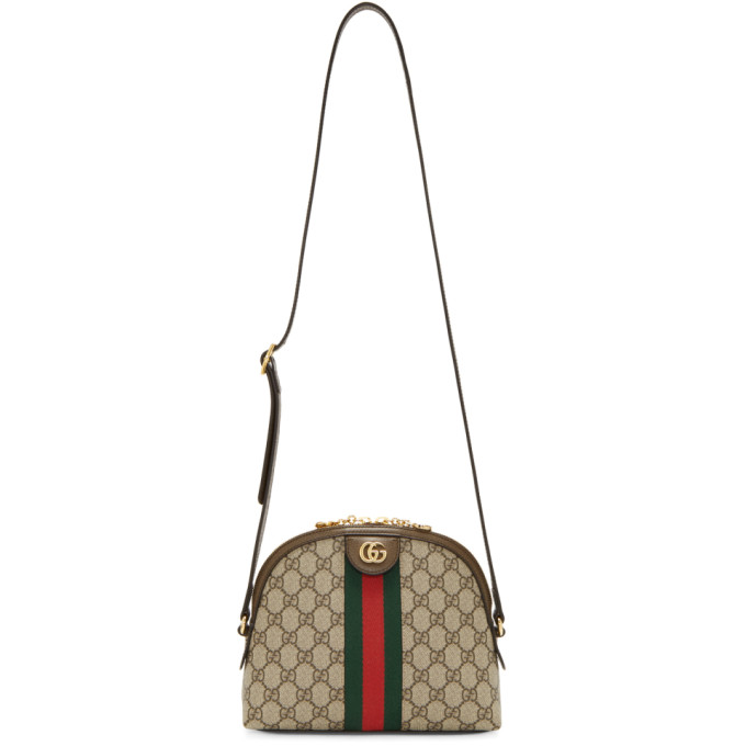 GUCCI | Gucci Brown And Beige GG Ophidia Bag | Goxip