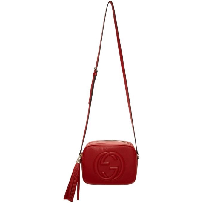 GUCCI | Gucci Red Small Soho Disco Bag | Goxip
