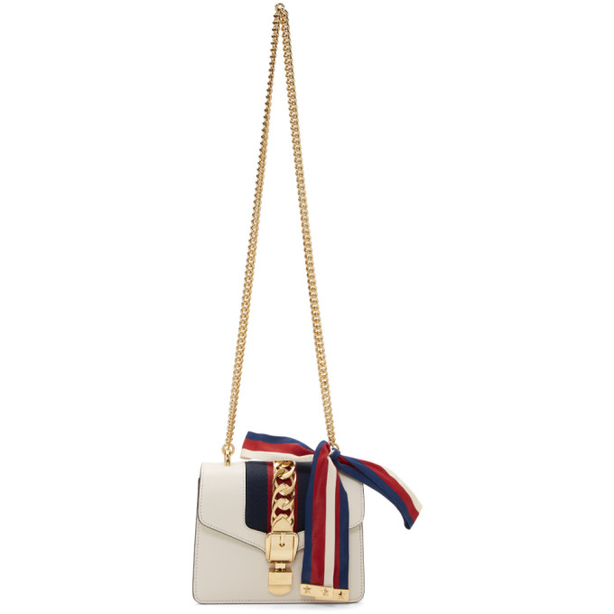 GUCCI | Gucci White Mini Sylvie Bag | Goxip