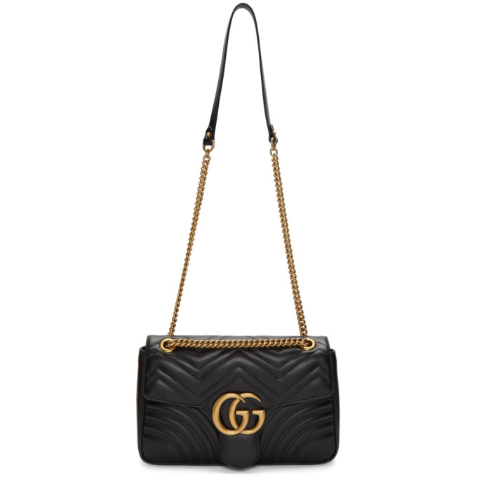 GUCCI | Gucci Black Medium Marmont Bag | Goxip