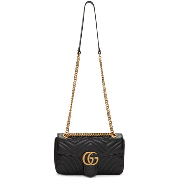 GUCCI | Gucci Black Small Marmont Bag | Goxip