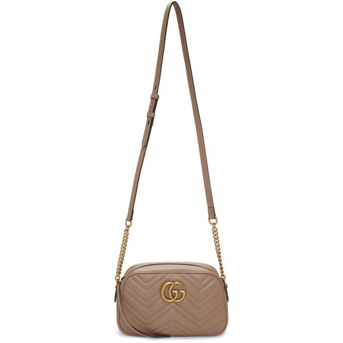 GUCCI | Gucci Taupe Small Marmont Camera Bag | Goxip