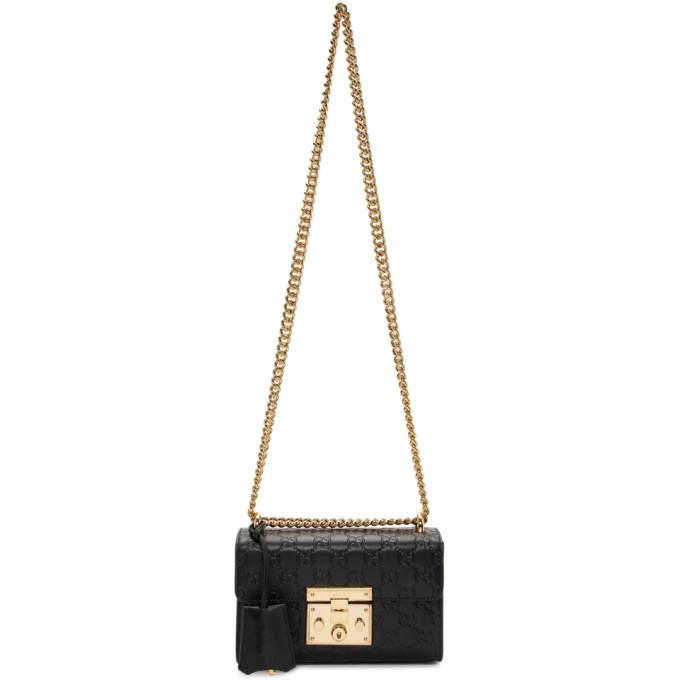 GUCCI | Gucci Black Small GG Padlock Bag | Goxip