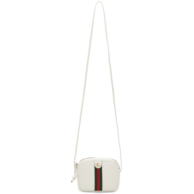 GUCCI | Gucci White Small Quilted Shoulder Bag | Goxip
