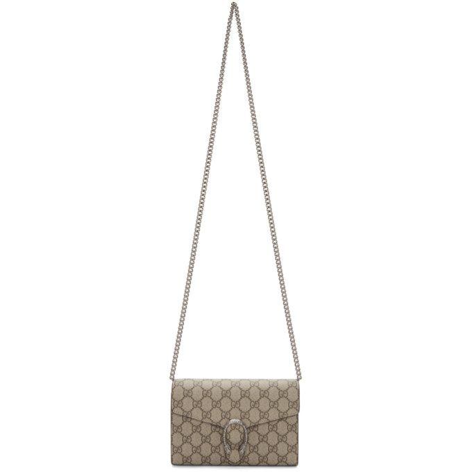 GUCCI | Gucci Beige GG Dionysus Wallet Bag | Goxip