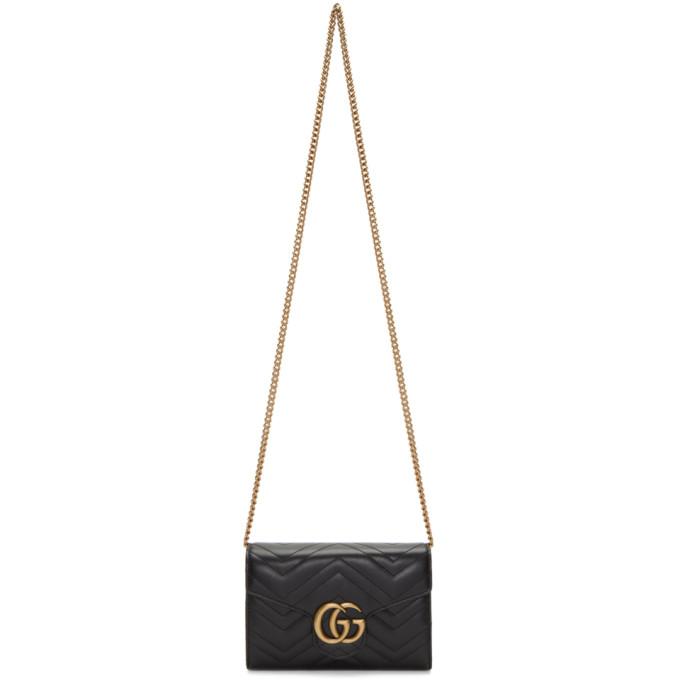 GUCCI | Gucci Black Marmont Chain Bag | Goxip