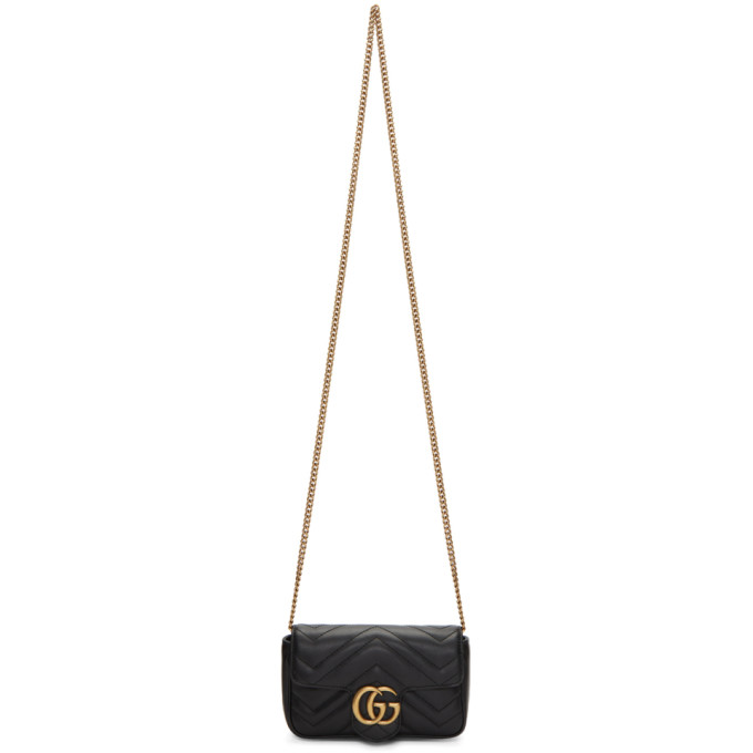 GUCCI | Gucci Black Super Mini GG Marmont Bag | Goxip