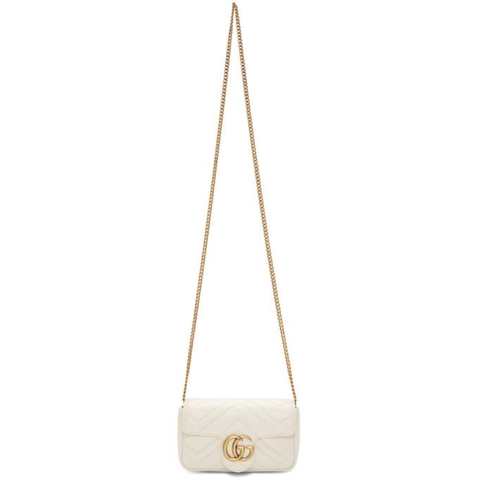 GUCCI | Gucci White Super Mini GG Marmont Bag | Goxip