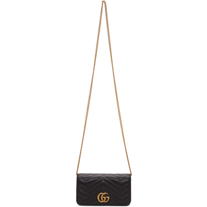 GUCCI | Gucci Black Quilted GG Marmont 2.0 Bag | Goxip