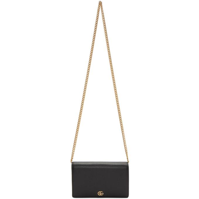 GUCCI | Gucci Black Small Marmont Chain Bag | Goxip