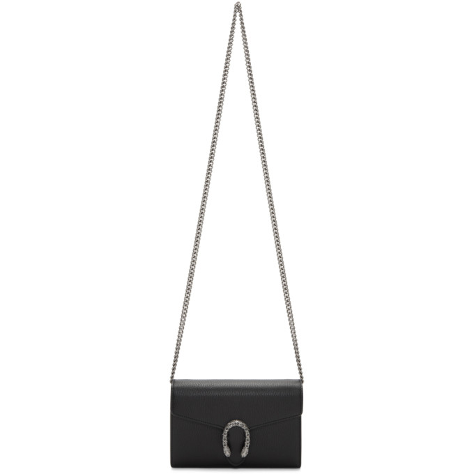 GUCCI | Gucci Black Mini Dionysus Chain Bag | Goxip