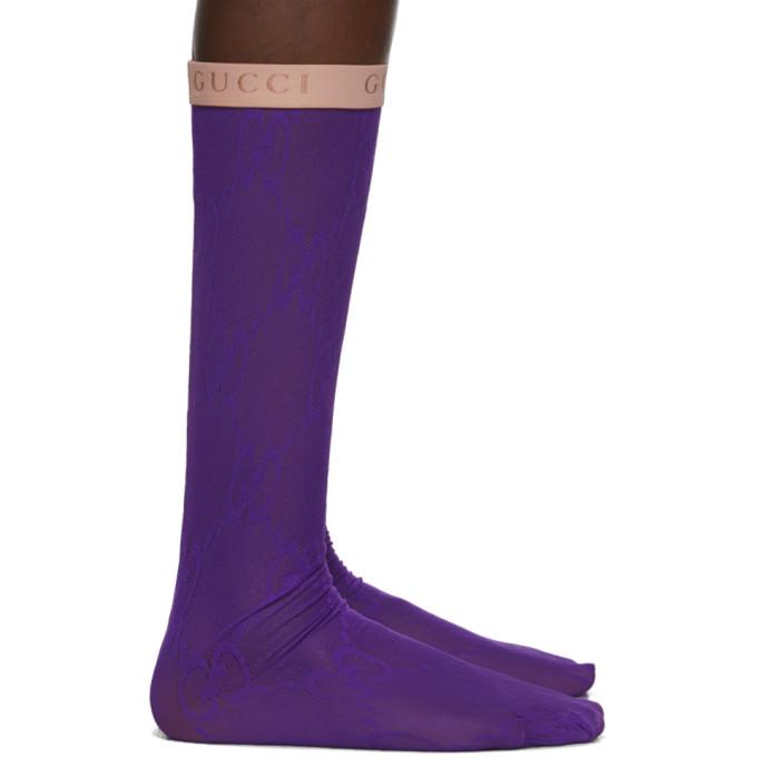 Gucci Purple GG Socks