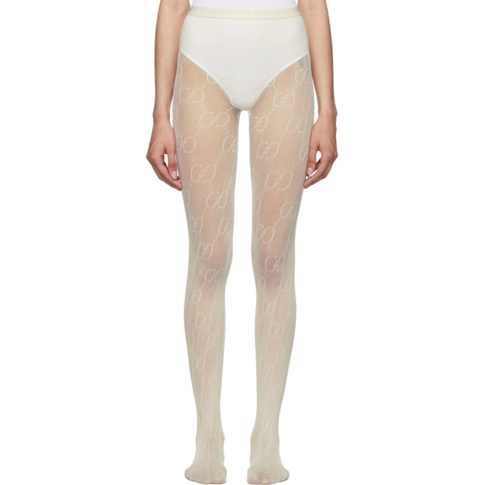 Gucci Pants OFF-WHITE GG TIGHTS