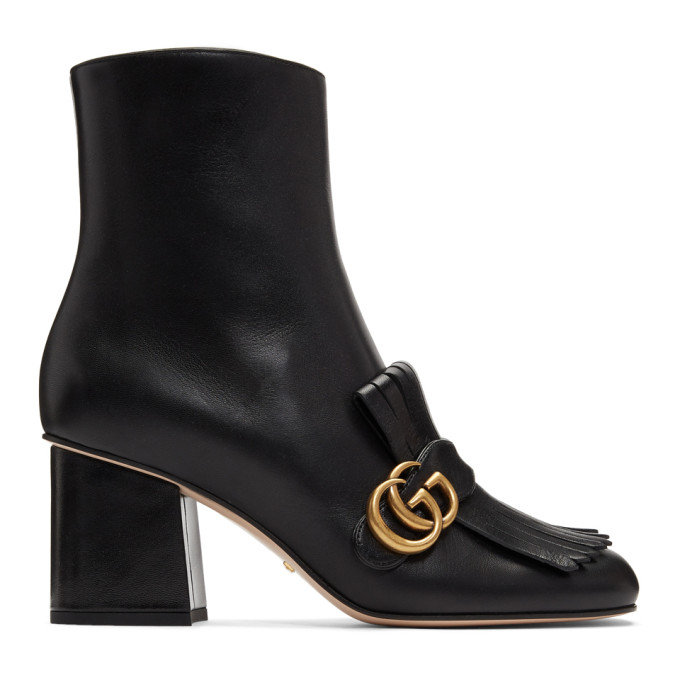 Gucci Black GG Ankle Boots