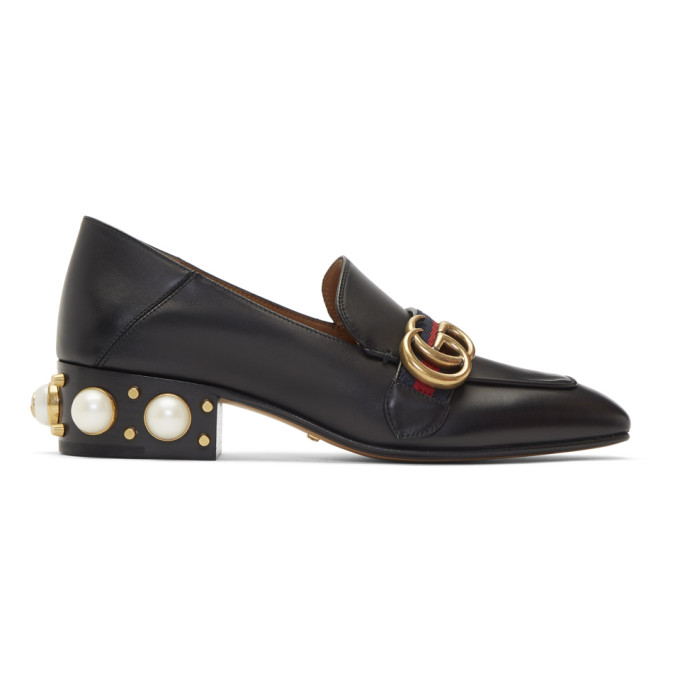 Gucci Black Peyton Pearl Loafers