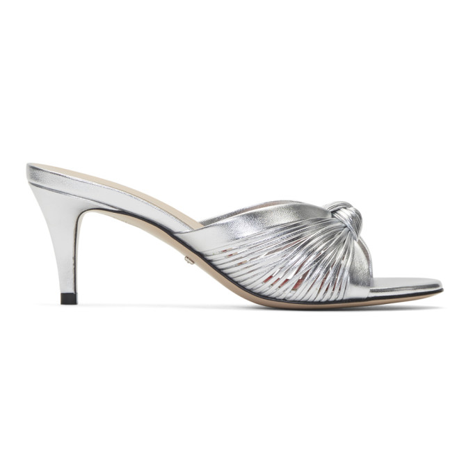 Gucci Silver Crawford Sandals