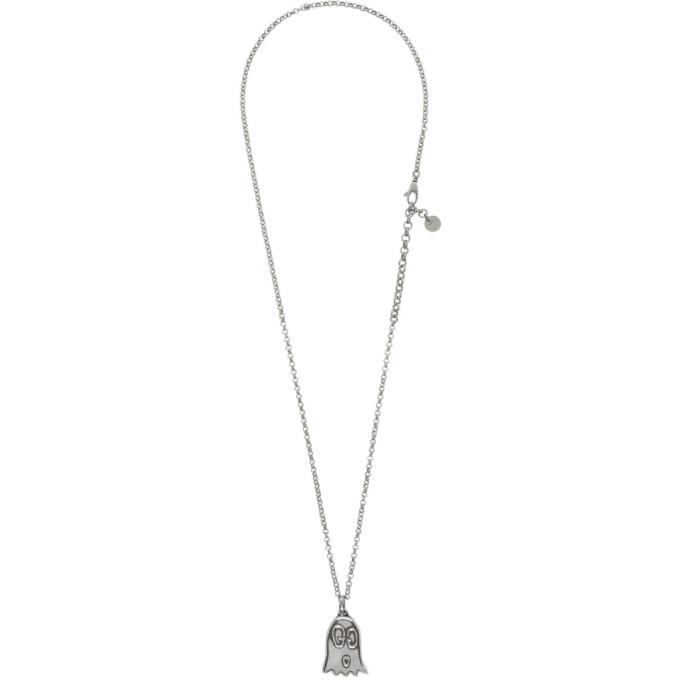 GUCCI | Gucci Silver Gucci Ghost Necklace | Goxip