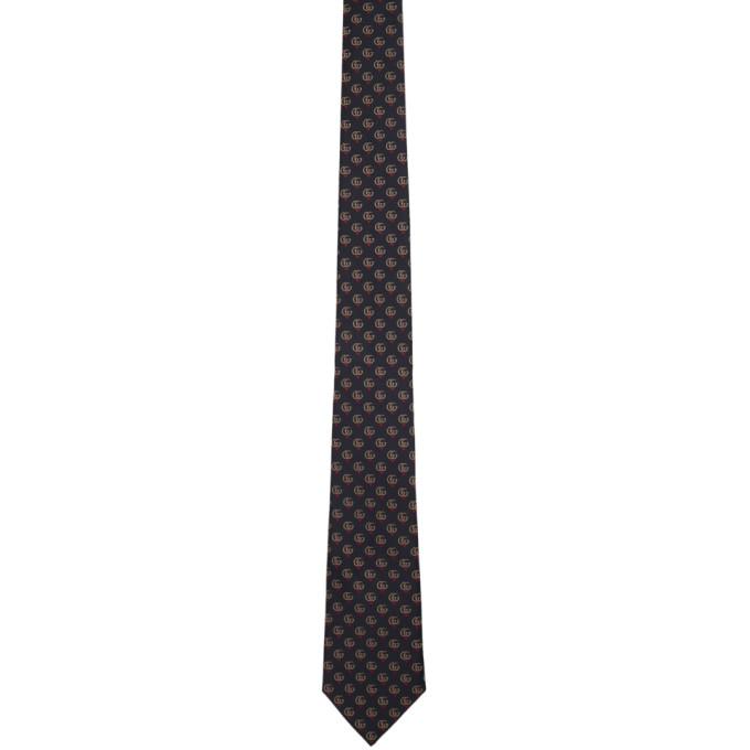 d76424e29d10 Gucci Navy Silk Gg Hearts Tie In 4000 Midblu | ModeSens