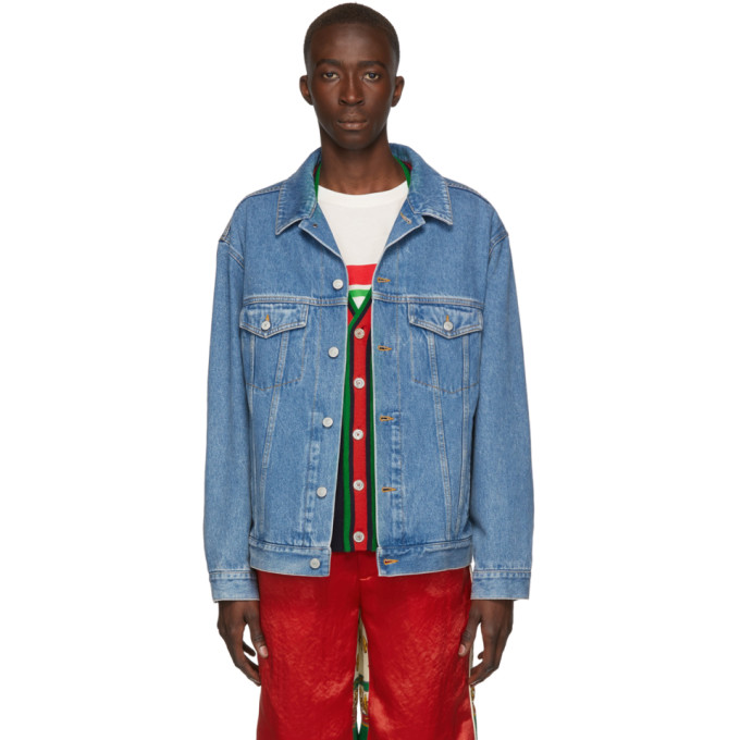 Gucci Jackets GUCCI BLUE DENIM GUCCI BAND JACKET