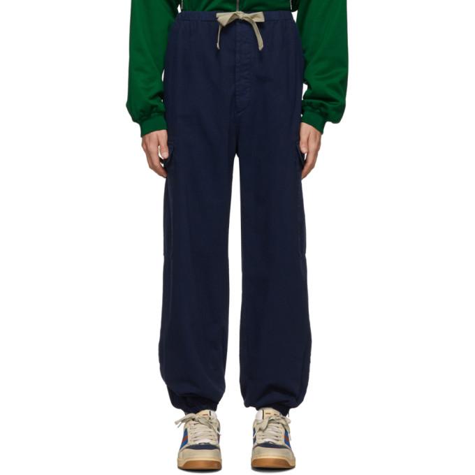 Gucci ブルー ヘリンボーン カーゴ パンツ