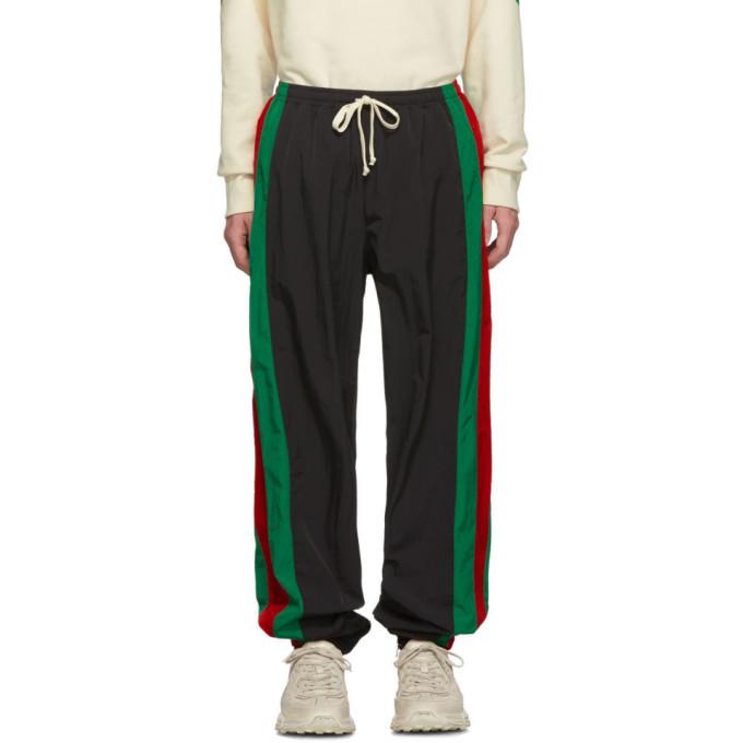 GUCCI | Gucci Black Waterproof Jogging Pants | Goxip