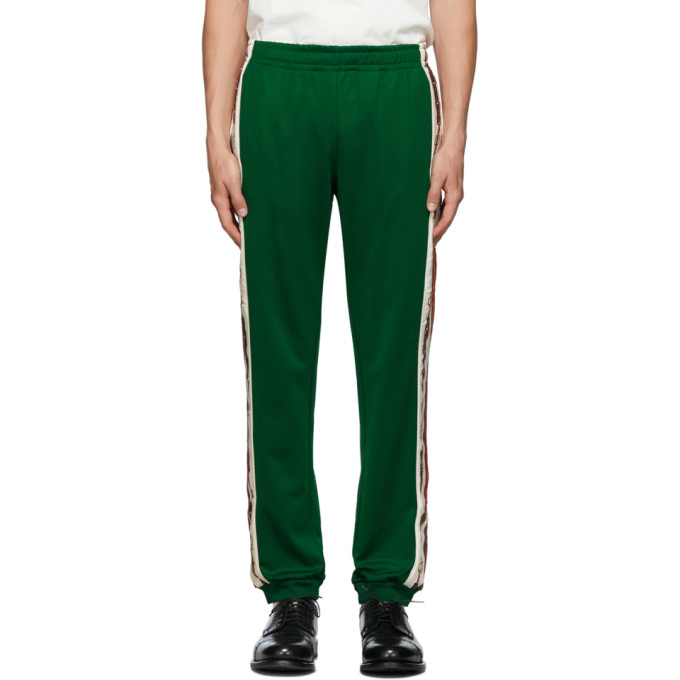 Gucci Pants GUCCI GREEN COTTON LOUNGE PANTS