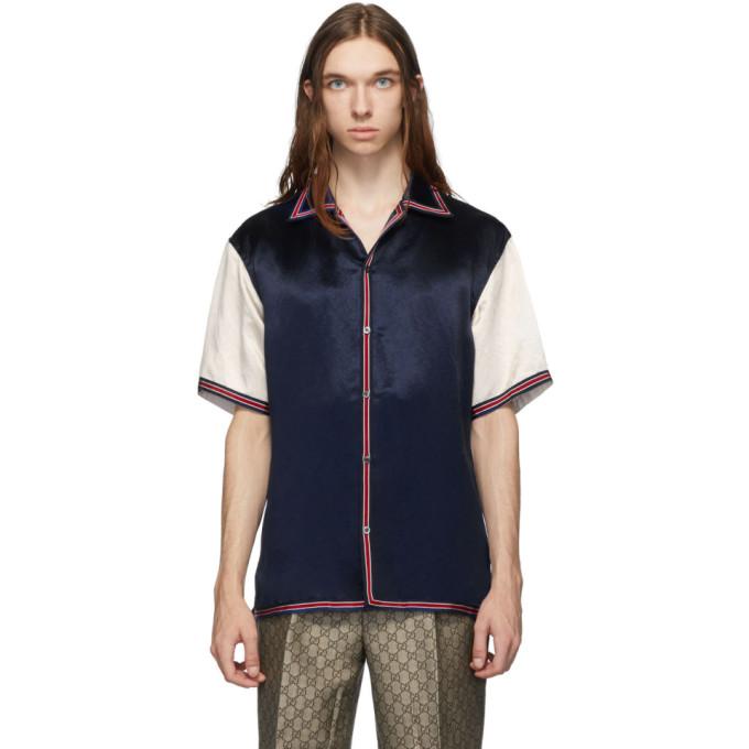 Gucci ブルー GG スター ボウリング シャツ