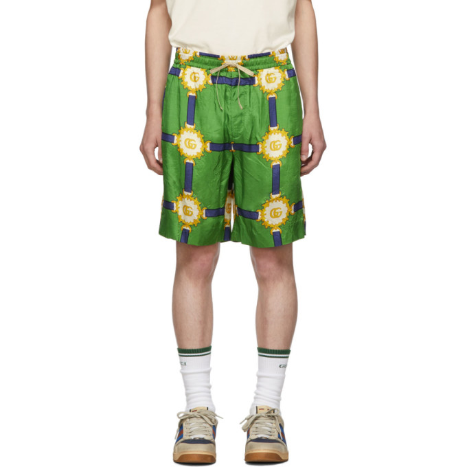 Gucci Green GG Marmont Shorts