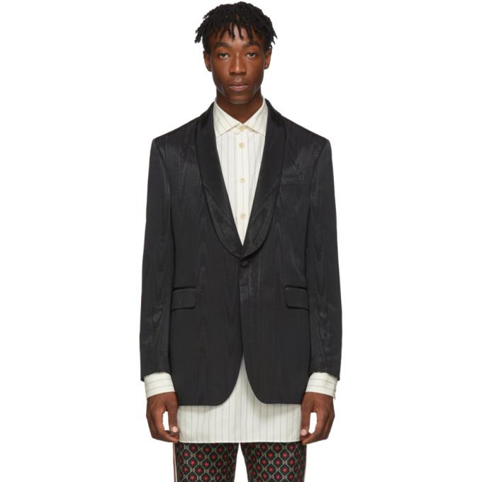 Gucci Black Moire Blazer
