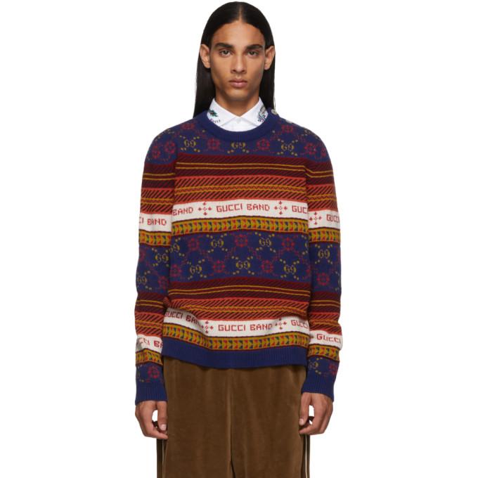 Gucci Multicolor Logo Sweater