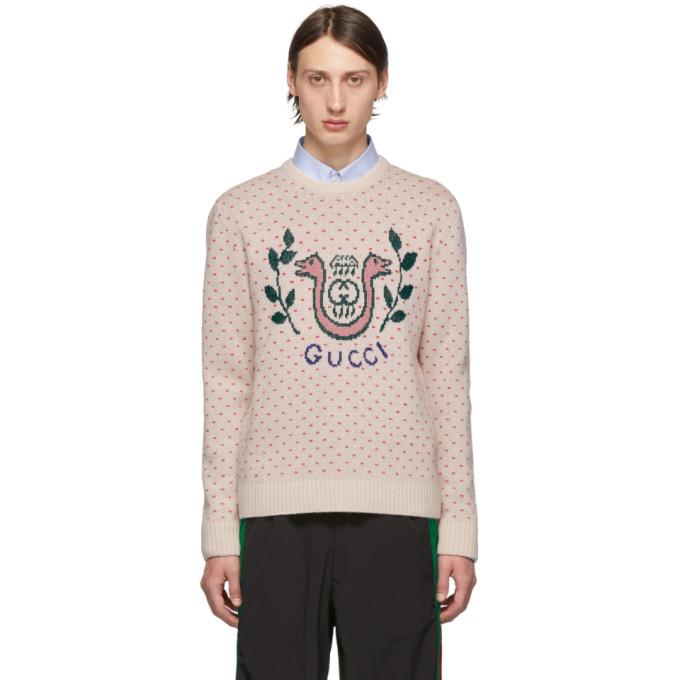 Gucci Off-White Wool Harp Sweater