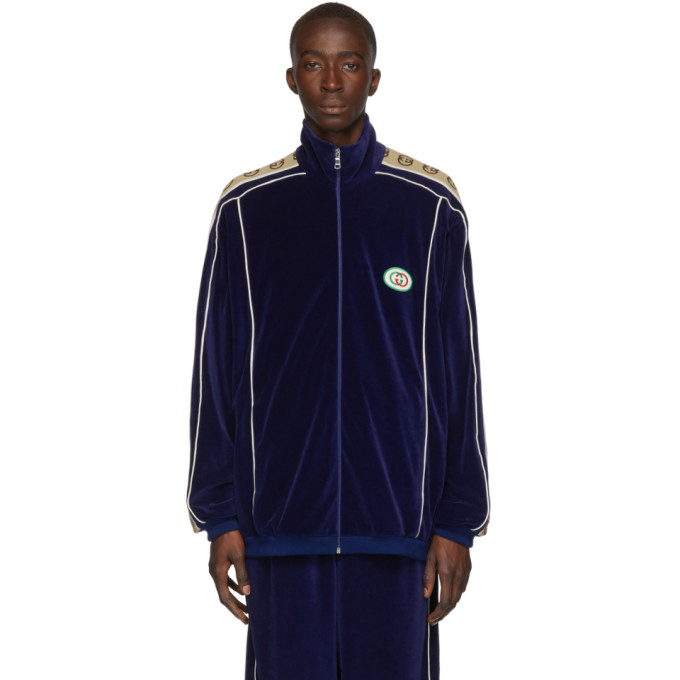 Gucci Jackets GUCCI NAVY ZIPOVER JACKET