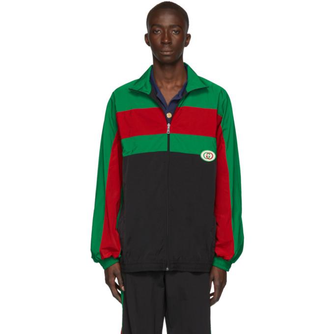 Gucci Jackets GUCCI BLACK OVERSIZED WATERPROOF JACKET