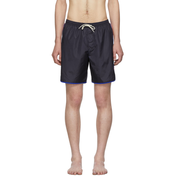 Gucci Maillot de bain bleu marine Logo Stripe