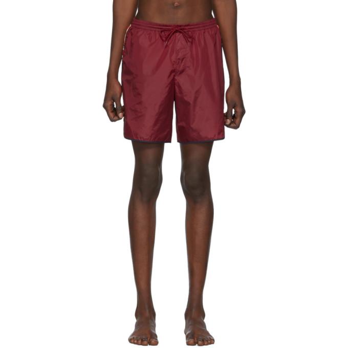Gucci Beachwear GUCCI RED GG SWIM SHORTS