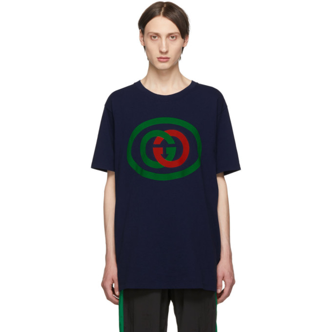 GUCCI | Gucci Blue Interlocking G T-Shirt | Goxip