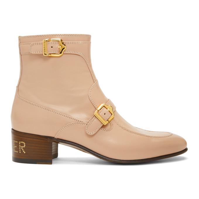 Gucci Pink Ebal Boots