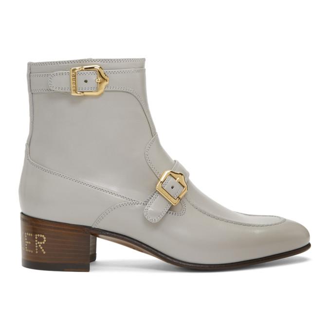 Gucci Grey Ebal Boots